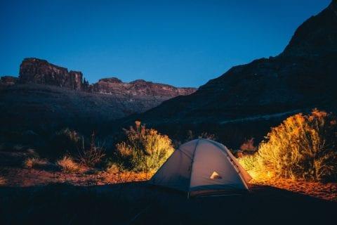 キャンプ 夜景