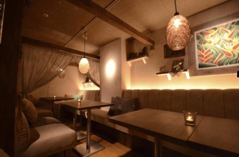 UBU CAFE ルミネエスト新宿店のインテリア