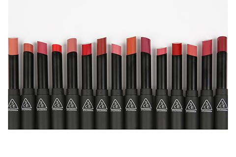 3CEのスリムベルベットリップカラー全15色解説♡さらさら高発色リップ