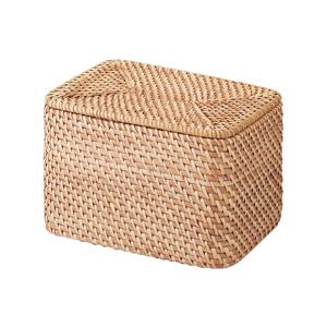 重なるラタン長方形ボックス・フタ付