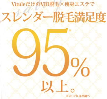 VIO脱毛+痩身エステでスレンダー脱毛満足度95%以上