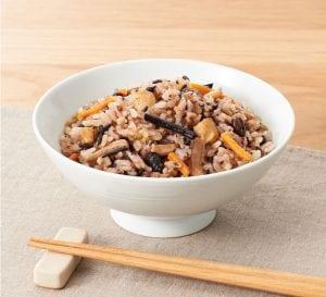 十六穀米のひじきごはん