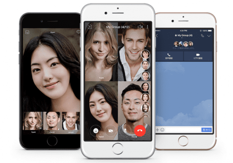 LINE|最大200人まで接続可能なビデオ通話