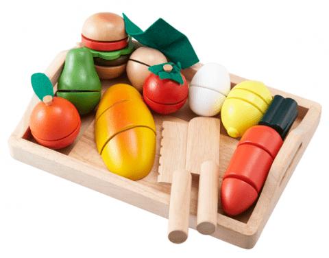 ままごといっぱいセット|野菜の種類や切り方も覚えられる