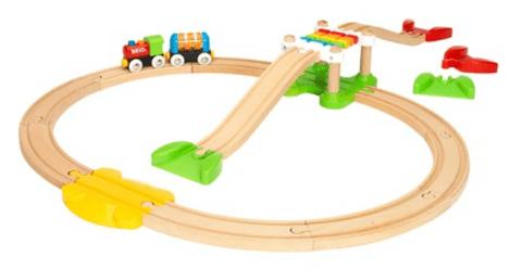 マイファーストビギナーセット|創造力を育む木製レール付き電車