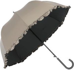 リーベン UV晴雨兼用ジャンプ傘 フリル