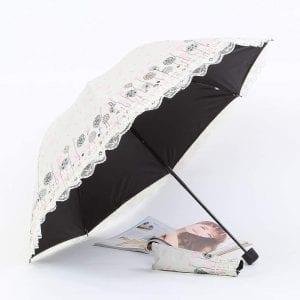 Kimiper レース傘/刺繍 花柄
