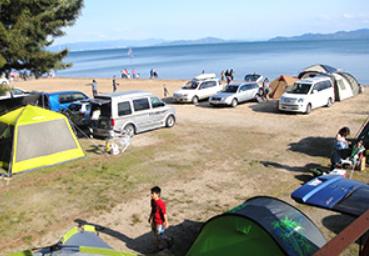 白浜荘オートキャンプ場 |琵琶湖のプライベートビーチも満喫