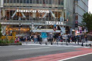 渋谷駅ハチ公口前の様子