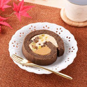 秋のロールケーキ マロンティラミス