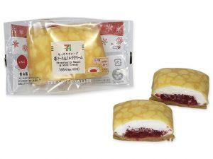 クレープ苺ソース&ミルククリーム