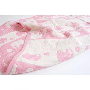 4位:大阪府忠岡町 ぞうさんの五重ガーゼケット70×100cm(ピンク)