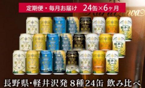 8位:長野県佐久市 THE軽井沢ビール6ヶ月定期便飲み比べセット24本