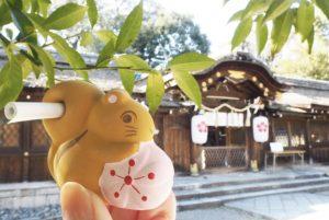 平野神社キュートなおみくじ「リスのお告げ」